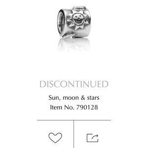 ⚡️SALE Retired Pandora Charm- sun moon & stars